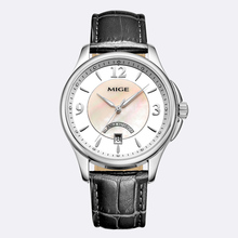 2017 New Hot Sale Brand Skeleton Saphire Dial Mechanical Watches White Black Leather Strap Waterproof Automatic Man Wristwatches