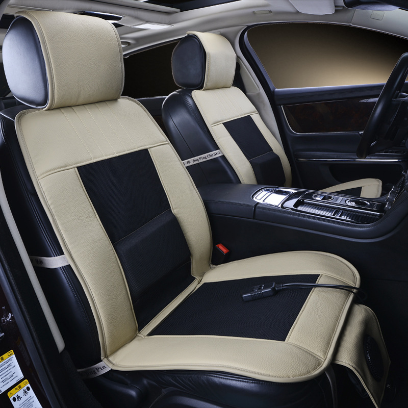 12V Cooling Car Seat CoverSingle Cushion With Cool Air And Massage Function High Fiber LeatherStyling Truck Sedan In Automobiles Covers From