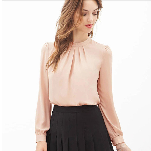 513fc18529 mujeres blusa Trendzone pliegue suelto Tops larga Casual verano manga 524  de chifón camisa Z5q7w5Br