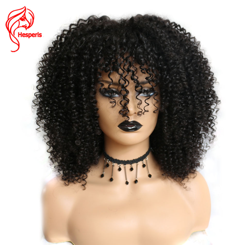 Hesperis 250 Density Lace Wigs With Baby Hair Afro Kinky Curl Lace Front Human Hair Wigs Brazilian Remy 13x6 Lace Front WigsHuman Hair Lace Wigs   -
