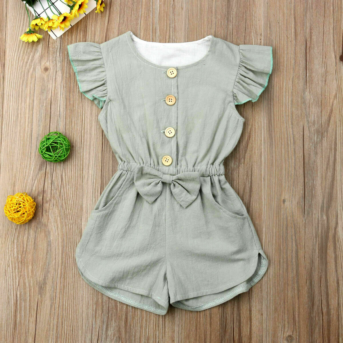 Hot Girls Fly Two-tone Sleeve   Romper   Jumpsuit 2019 Summer Toddler Kids Baby Clothes Sunsuit Outfits