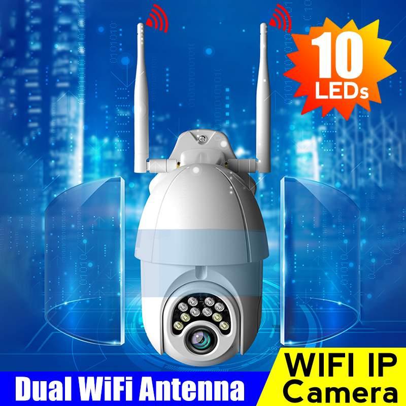 Nouveau 1080 P WIFI caméra extérieure PTZ IP caméra Vision nocturne caméras de sécurité caméra IP WIFI extérieur 2MP IR surveillance à domicile
