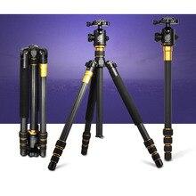 DHL Free Shipping Q-999C Pro Carbon Fiber Light Weight Tripod Monopod & BallHead Compact Travel For DSLR Video Camera