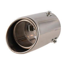 Exhaust Pipe Straight Mufflers Stainless Steel  Round Tail Muffler Tip Car Pipes