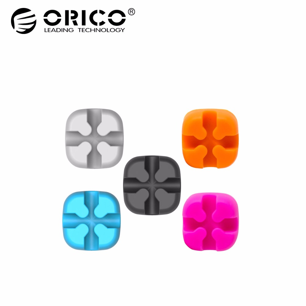 Discreet Orico Cbt-5s Cable Organizer Cable Wire Holder Cable Winder 5 Pcs Nylon Cable Colorful Ties Label Ribbon Wire Accessories & Parts