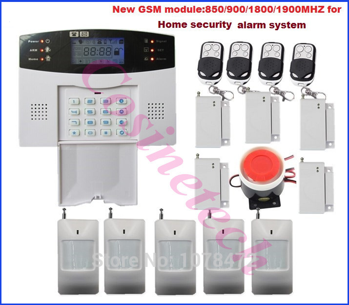 LCD display 107 zones home security GSM850/900/1800/1900MHz anti-burglar SMS GSM alarm system in multi-language,drop shipping hot sales lcd display wireless wired sms gsm alarm system auto dial gsm 850 900 1800 1900mhz home security gsm alarm system