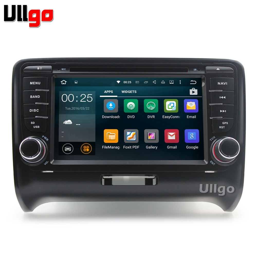 7 ''Android DVD GPS de voiture pour Audi TT TTS 2006-2014 Autoradio unité de tête de voiture avec Bluetooth Radio RDS miroir-lien carte de 8 GB gratuite