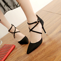 Ms. Noki Summer women pumps Shoes Fashion cross tied summer shoes woman heels women sandals office and leisure sexy shoe in 2016