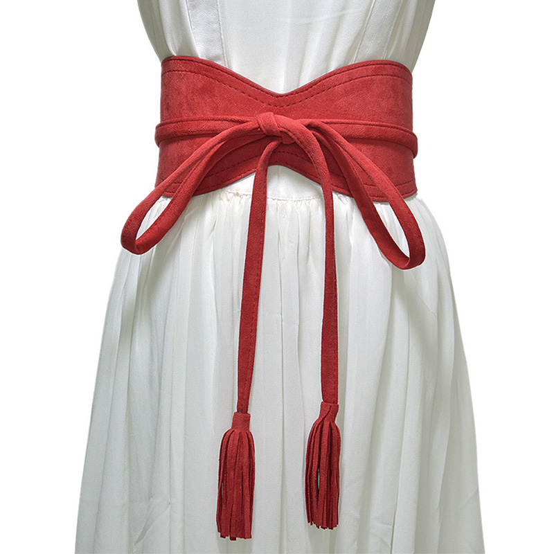 [AETRENDS] Fashion Cintos Cummerbunds Woman Bandage Strap Girdle Cinch Belts For Women Waist Wide Belts for Dress D-0043