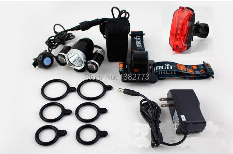 LED Head Light + 4x18650 bateria +