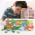 Free shipping wooden toys wholesale, 60pieces of wooden puzzle, cartoon puzzle/baby early childhood educational toys much money