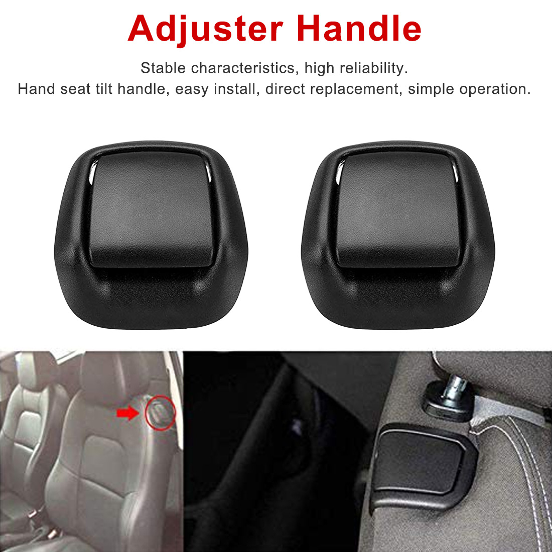 1Pair Front Left/Right Hand Seat Tilt Handle Seat Adjuster Handle Right & Left Hand Front Seat Tilt Handles Car Seat Accessories