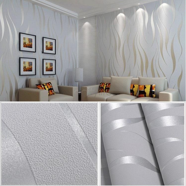Decoracion paredes comedor salon en tonos neutros for Comedor papel pintado