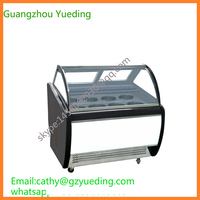 CE approved air cooling system commercial hard ice cream display freezer