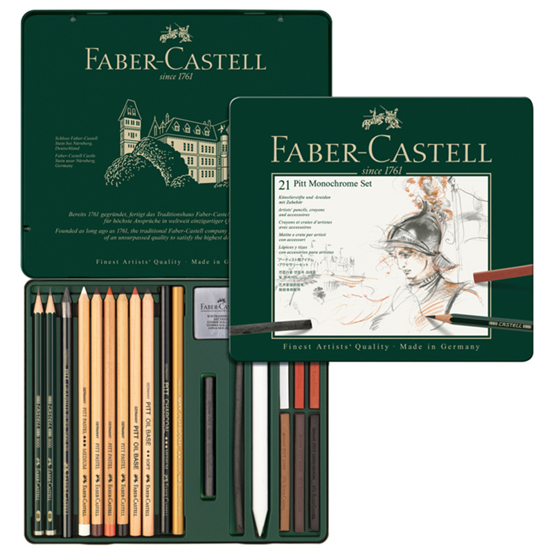 FABER CASTELL 21 pièces de graphite croquis crayons et crayon peinture ensemble 112976