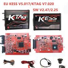 Best Price KESS V2 V2.47 V5.017 EU Red ECM Titanium KTAG V2.25 V7.020 4 LED Online Master VersionECU OBD2 car/truck Programmer