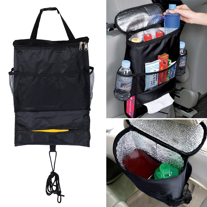 Hot Sale Car Seat Bag Storage Multi Pocket Organizer Car Seat Back Bag