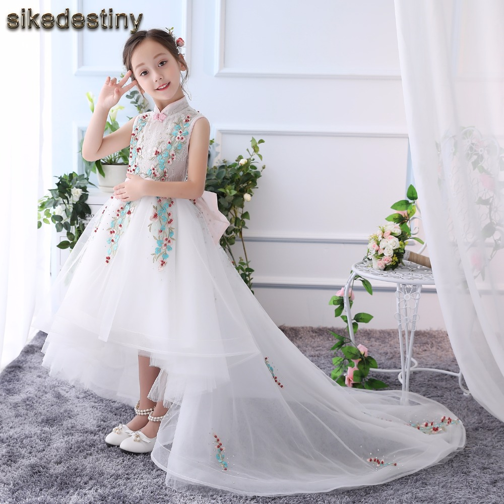 Very Cute Flower Girls Dresses Appliques Ball Gown Ruffles Tulle