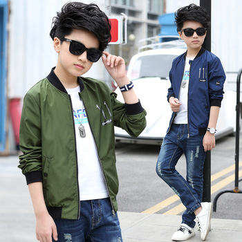 Boys Coat 2017 Spring New Polyester Faux Leather Casual Fashion Letter Children Spring Teenage Boys Jackets Kid Clothes for Boys spring outfits for kids