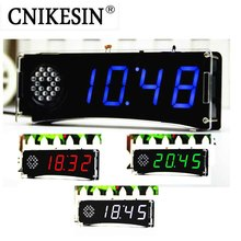 CNIKESIN  DIY Kits Speech Version of Digital Electronic Clock 51 Single-chip Electronic Clock DIY LED Suite YD-030(no battery)