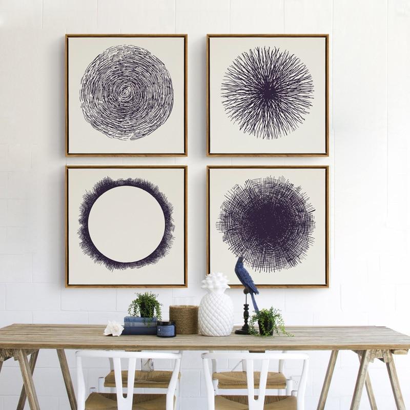 Zen enlightenment circle spiritual art canvas painting for Poster mural zen deco