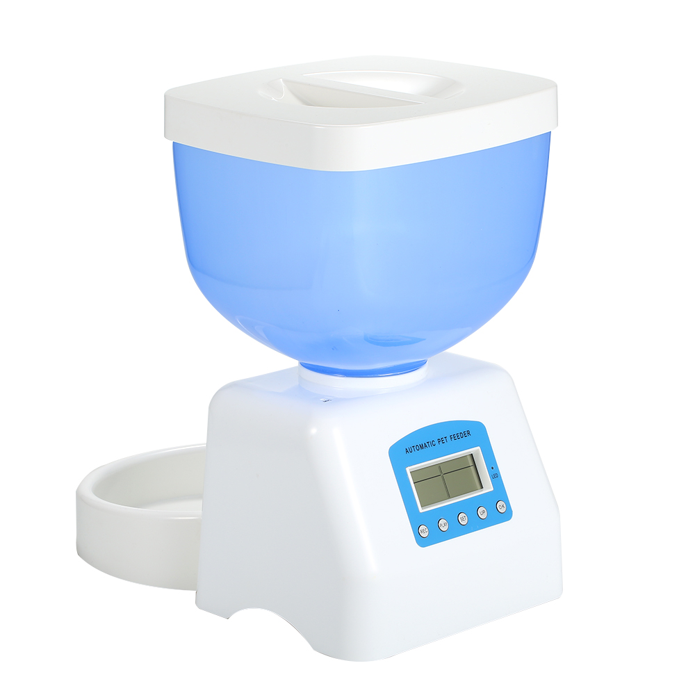 5 0L Automatic Pet Feeder Dog Cat Drinking Bowl For Dog Water Drinking ABS Plastic LCD