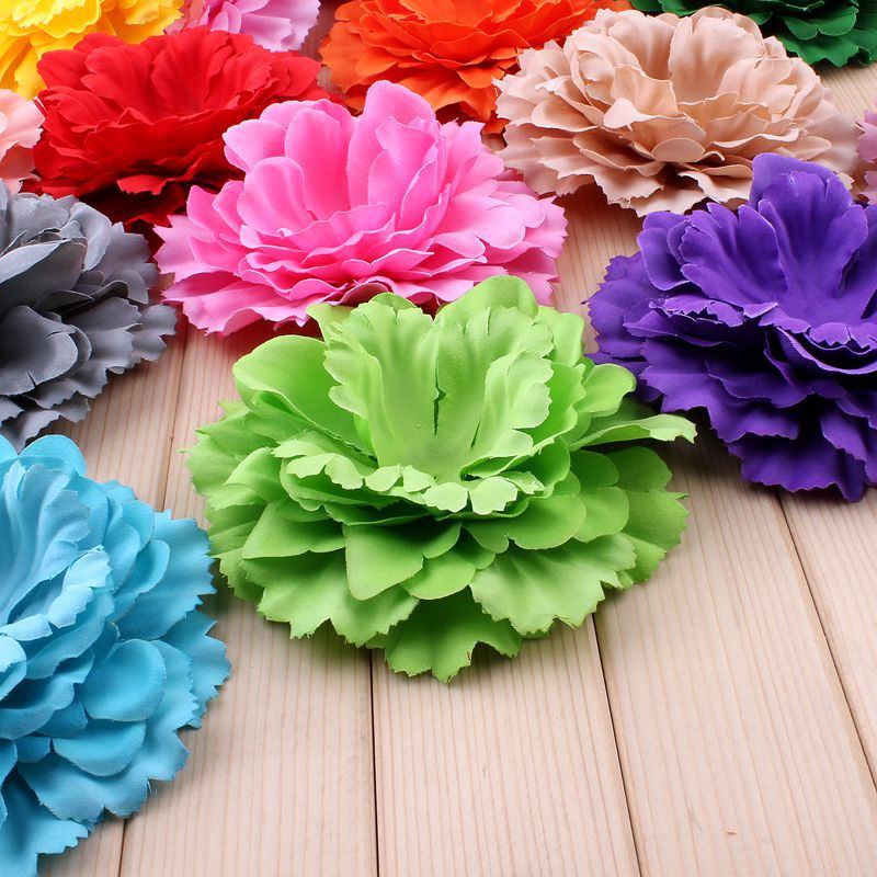 20pcs/lot 11CM 20 Colors Newborn DIY Fashion Artificial Shaped Fabric Flowers multi-layers peony For Children Hair Accessories