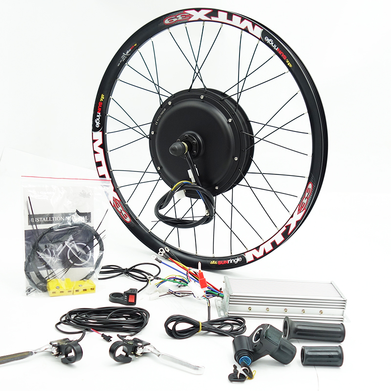 48V 72V 3000w E Bike Kit 90km/h max speed with 7speed freewheel