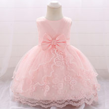 Newborn Clothes 2019 Summer Baby Girls Princess Christening Dress For Baby 1 Year Birthday Dress Infant Baby Wedding Party Dress(China)