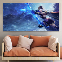 Printed Painting Wall Artwork 1 Set Sexy Archery Woman Pictures Modular Canvas Game Character Poster Home Decoration Living Room(China)