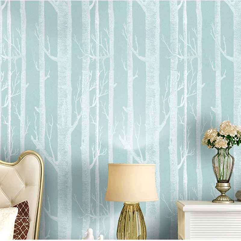 Nordic Fashion 3d Forest Wallpaper Mural Abstract Tree