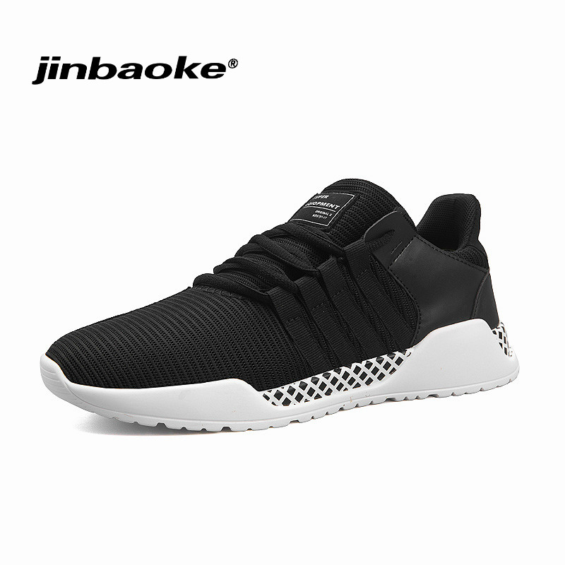 Breathable Mesh Mens Running Shoes Lace Up Stability Athletic Sneakers Outdoor Rubber Outsole Sport Shoes Man for Gym Exercise