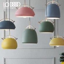 NEW Colorful Nordic Modern Hanging & Pendant Lights E27 Pendant Lamp Light Fixtures 110V 220V for Personality Decor Suspension