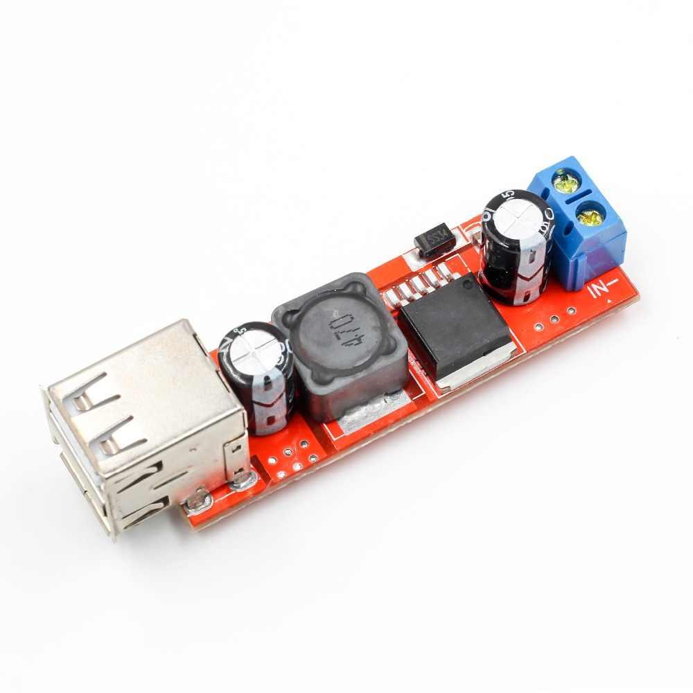 Dual USB Output 9V / 12V / 24V / 36V Mobil Charger Switch 5V DC-DC power Supply Modul 3A Buck Regulator