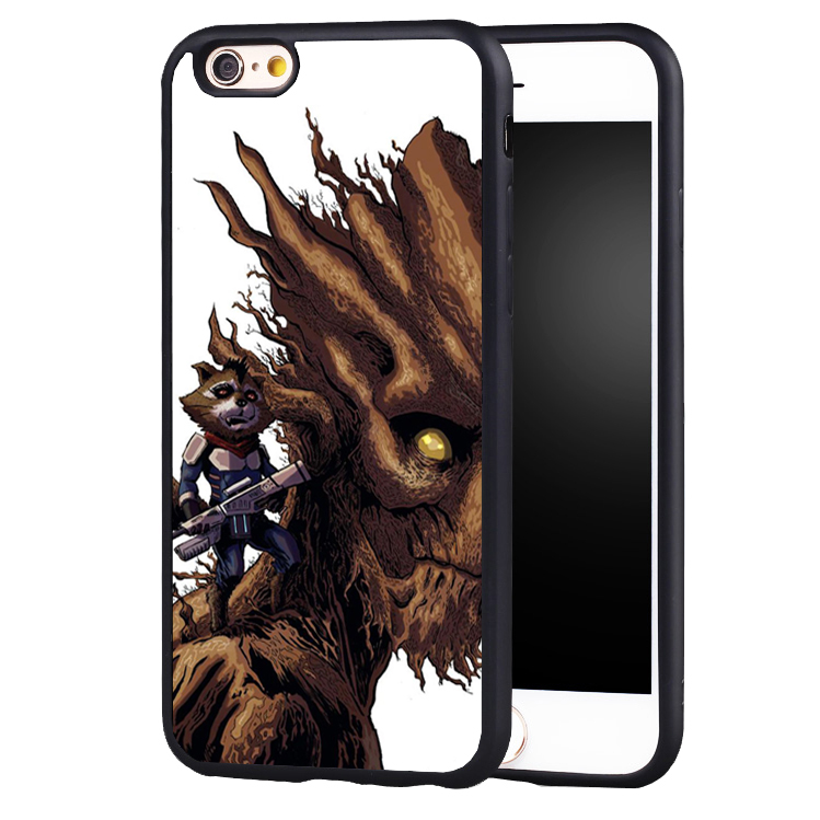 Pop Groot Tree man Guardians of the Galaxys soft edge hard back Printed case cover For samsung S6 S6 edge S7 S8 PLUS