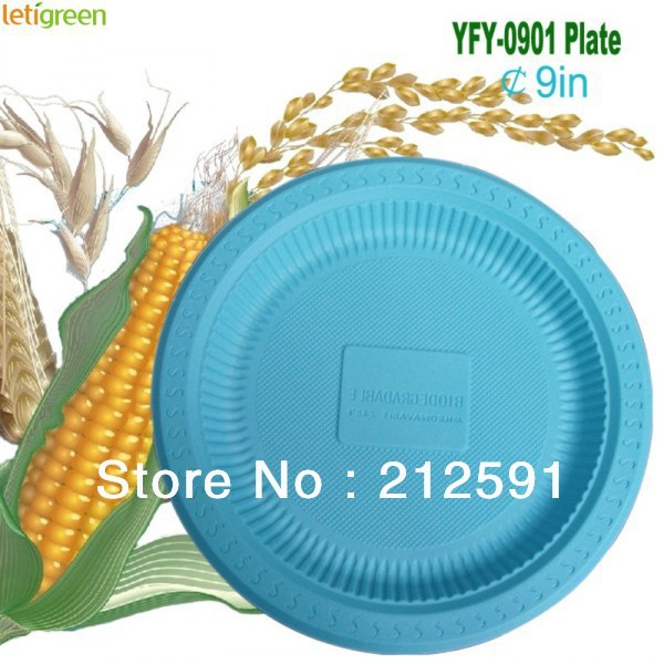 Eco-friendly Wholesale Corn Starch Plates Composable Quality Plastic Dishes Biodegradable Plate 9   sc 1 st  AliExpress.com & Eco friendly Wholesale Corn Starch Plates Composable Quality Plastic ...