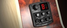 Cherub GT 4 3 Band EQ Equalizer with Chromatic Tuner Mid Frequency Control Piezo Ceramic Pickup