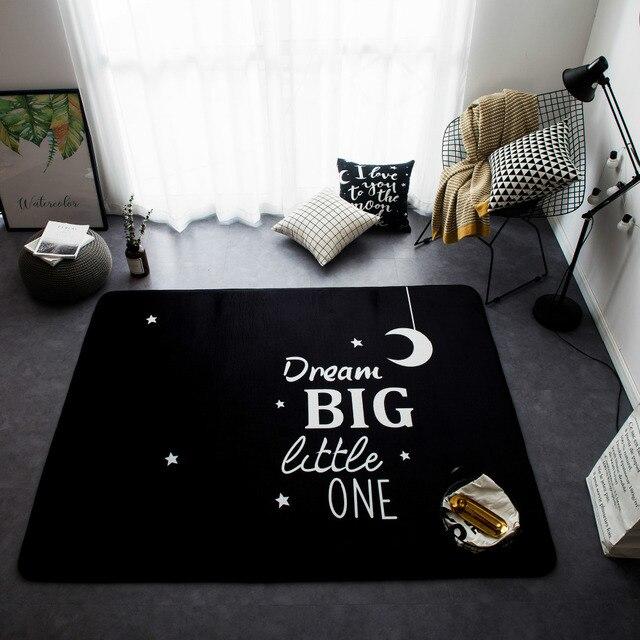 145X195 CM Sterne Mond Teppiche Für Wohnzimmer Nordic Stil Weichen Teppiche  Für Schlafzimmer Dekoration Couchtisch Bereich