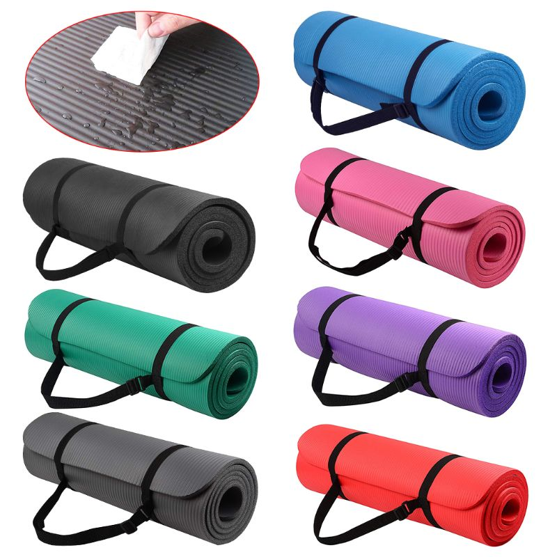 Details about  /6//10//15//20MM Thick Yoga Mat Pad Nonslip Exercise Fitness Pilate Gym Durable AU