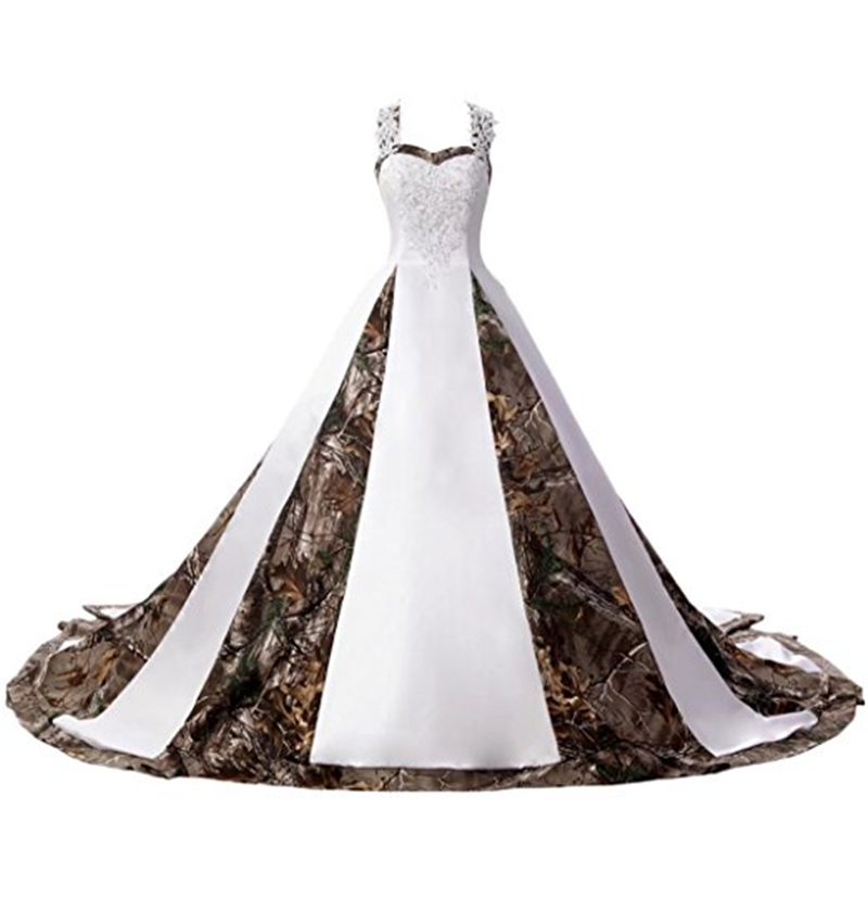 Bealegantom 2019 Sexy Sweetheart White And Camouflage Wedding Dresses Lace Up Camo Bridal Gowns Vestido De Novia Qa1424 Relieving Heat And Sunstroke Weddings & Events