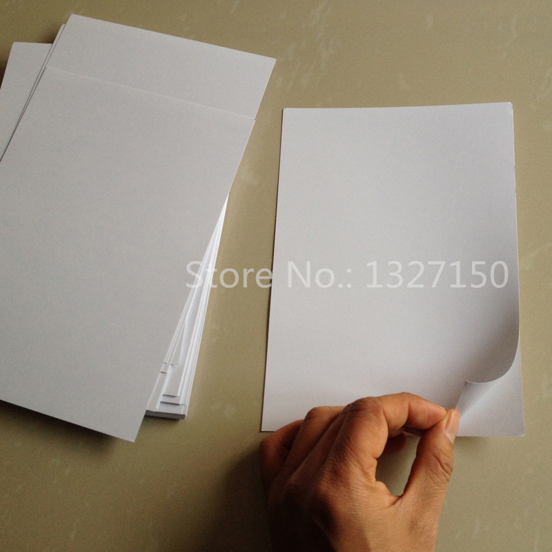 10pc A5 Glossy Self Adhesive Label Sticker Photo Inkjet Printer Paper White