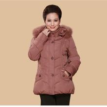 Nice Woman Winter Fur Collar Coat Thick Warm White Duck Long Down Jacket  Plus Size 5XL Parka  For Female Casaco Feminino CP1155