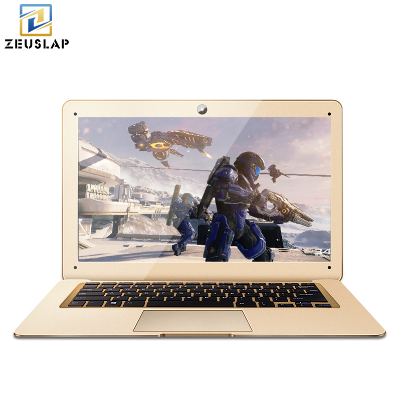 ZEUSLAP 14inch 4GB Ram+64GB SSD+500GB HDD Fast Boot Running Windows 10 Quad Core Ultrathin Game Notebook Laptop Computer ru stock zeuslap 8gb ram 120gb ssd 500gb hdd windows 10 ultrathin quad core fast boot notebook computer laptop
