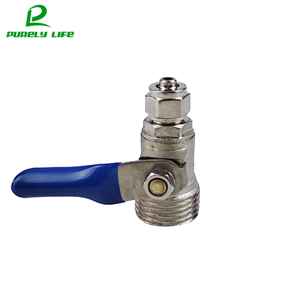 1/4 OD Tube to 1/2 male BSP Ball Valve swhich 1/4 Inlet Valve Switch 1/2 inch male thread to 3/8 pipe External thread 1 2 pt male thread to 12mm hose barb plastic cover lever ball valve brass tone discount 50