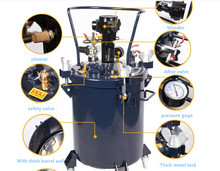 PARMARC  10L20 L Pressure drum with agitator adhesive spraying transfer bucket Glue barrel Spray paint