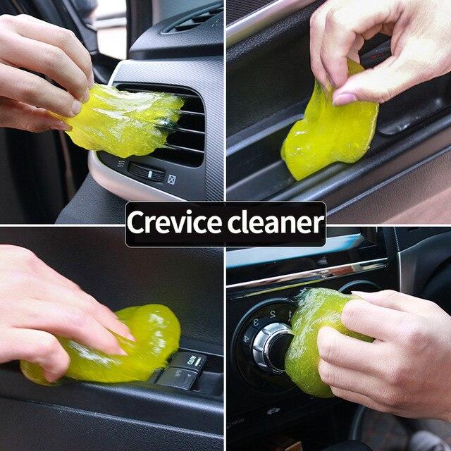 Produits d'éponge de nettoyage de voiture Auto universel Cyber Super propre colle microfibre outils de poussière produits de Gel de boue