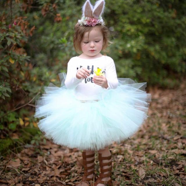 Princess Tutu Mint Skirt Flower Girl Wedding Birthday Pettiskirt Baby Cake Smash One Year