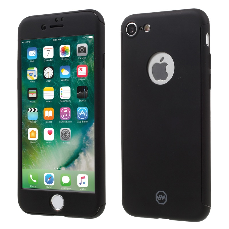 JOYROOM Cover for iPhone 7 Cover All wrapped Hard Case for iPhone 7 Case Tempered Glass