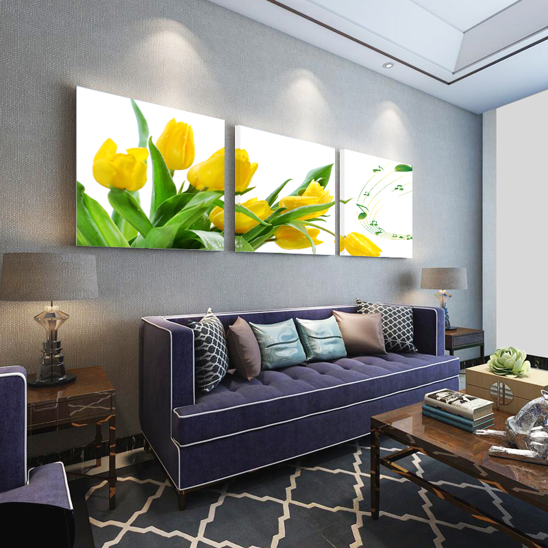 Unframed Canvas Painting 2016 Hot Sale Flowers Poster Home