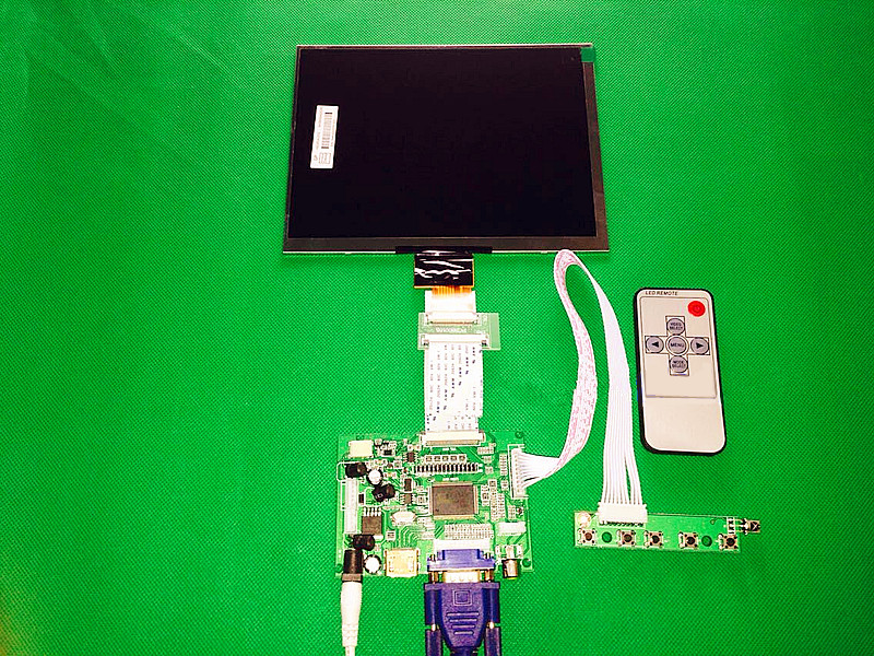 HDMI/VGA/AV Contrôle tableau de bord + 8